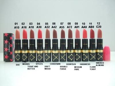 Ask a Question About MAC Lustre Lipstick Rouge 3g 0.1oz 12 Colors Whole set